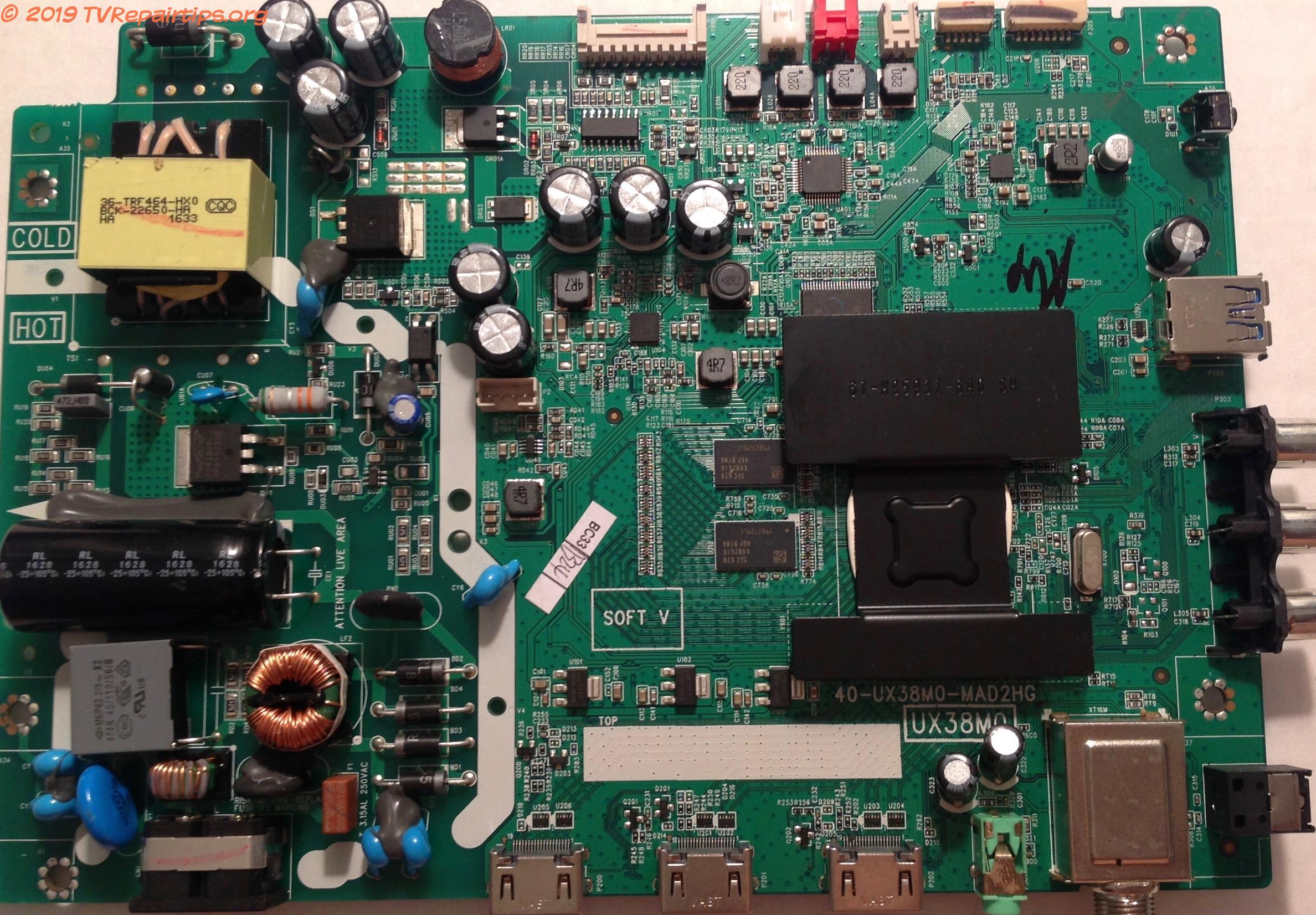 TCL Main Board / Power Supply for 32S3750 (32S3750TQAA Version)