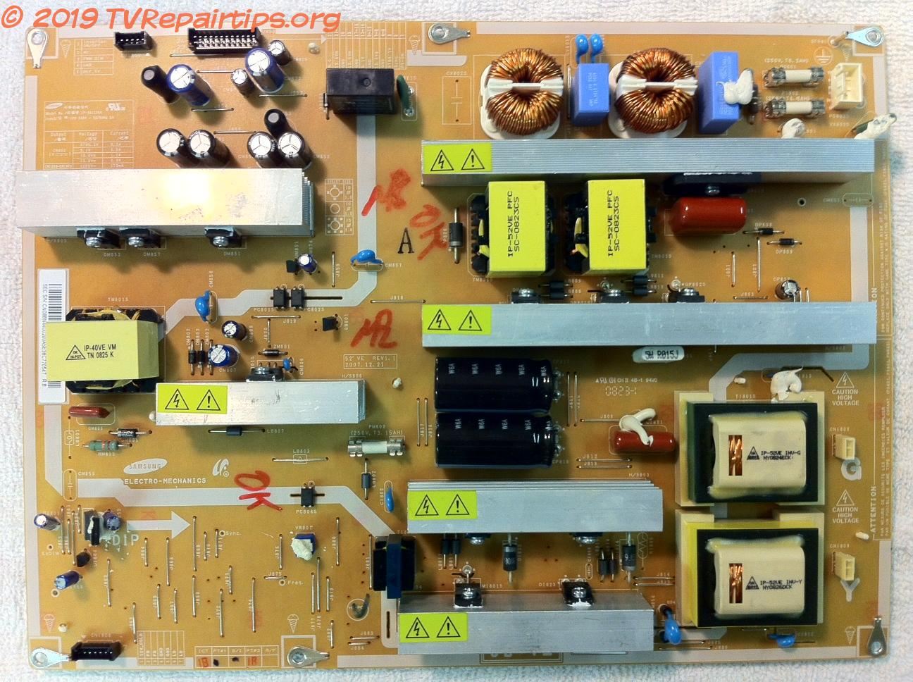 Power Supply Diagram Samsung Bn44 00200a Electrical Wiring Lm317 Circuit Rh Tvrepairtips Org Atx